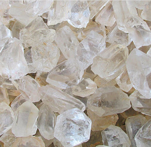 Clear Quartz Raw Crystals- 100g Bag