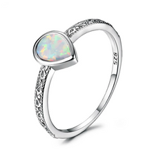 Load image into Gallery viewer, Rain Drop Fire Opal Ring