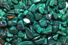 Load image into Gallery viewer, Malachite Tumbled Stones- 100g Bag