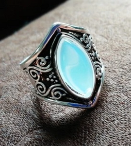 Faux Moonstone Ring