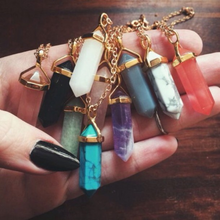 Load image into Gallery viewer, Crystal Point Necklaces
