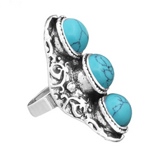 Load image into Gallery viewer, Vintage Stone Trio Adjustable Ring