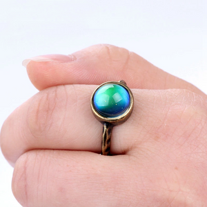Antique Bronze Color Changing Mood Ring