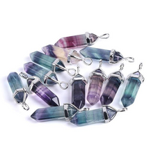 Load image into Gallery viewer, Fluorite Crystal Necklaces