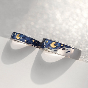 Van Gogh Starry Night His & Hers Rings
