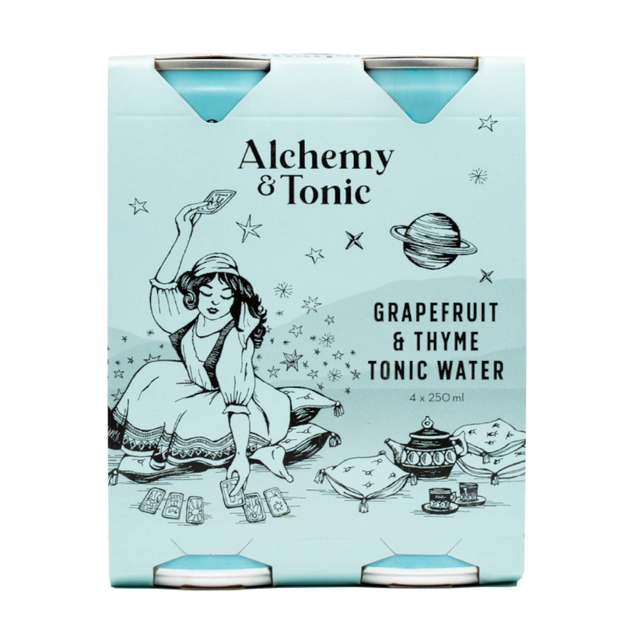 Alchemy & Tonic - Grapefruit & Thyme Tonic Water 250ml 4pk