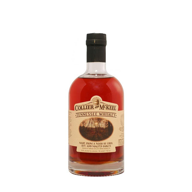 Collier and Mckeel Tennessee Whiskey 750ml 43% ABV bottle