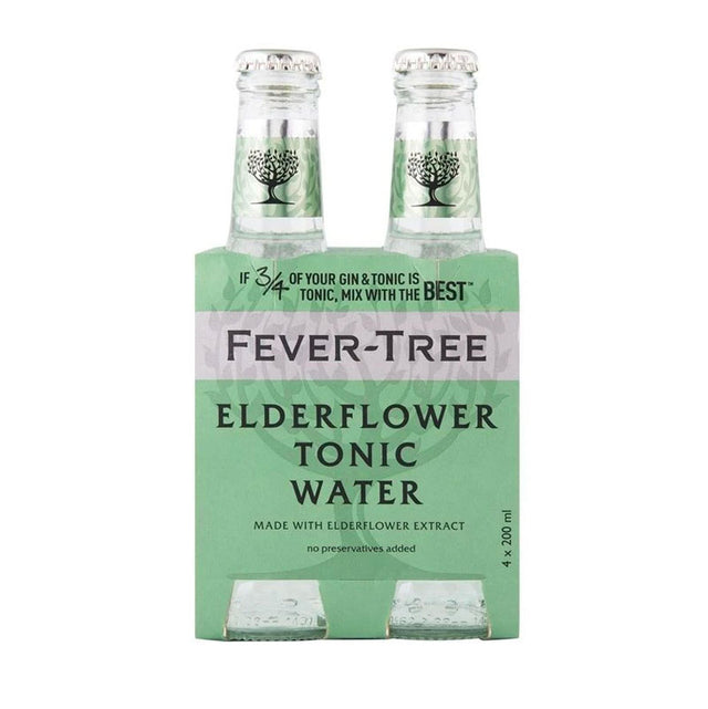 Fever Tree Elderflower Tonic Water 200ml 4pk