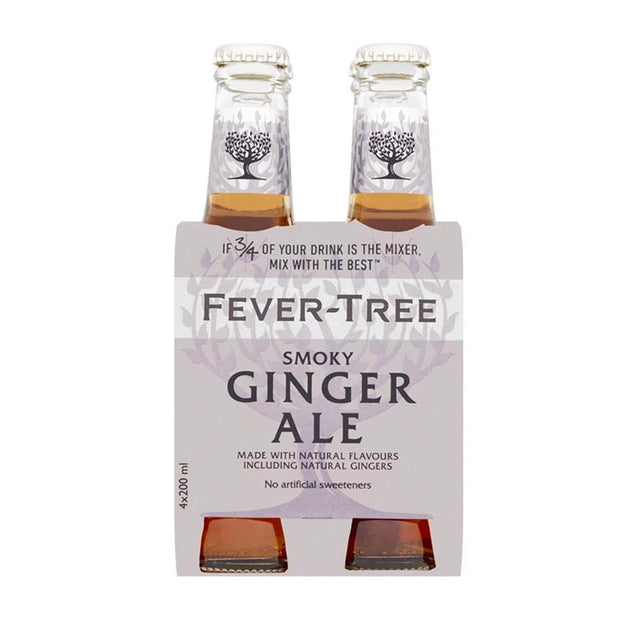 Fever Tree Smoky Ginger Ale 200ml 4pk