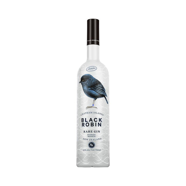 Black Robin Rare Gin 750ml 43% ABV tall bottle