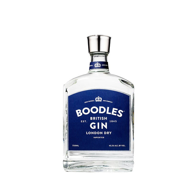 Boodles British London Dry Gin 750ml 40% ABV short square bottle