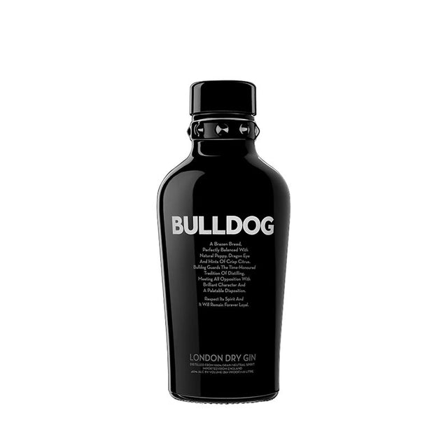 Bulldog Gin London Dry Gin 700ml in smoked grey spiked collar bottle