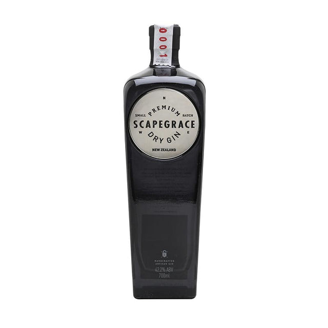 Scapegrace Gin 700ml 40% ABV black glass bottle