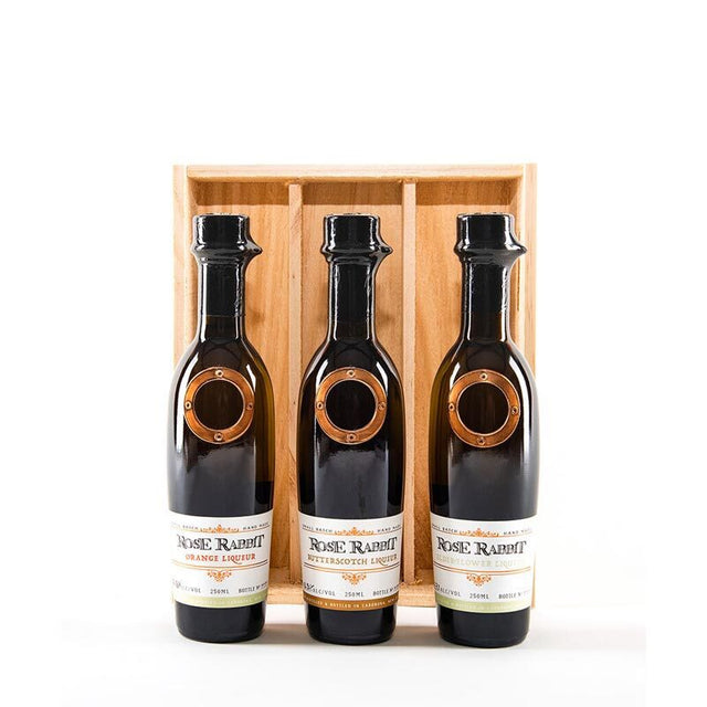 Rose Rabbit Liqueur Trio Gift Pack 3x250ml
