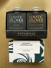 Lunatic and Lover Botanical Rum Gift Pack 2x100ml + HOC For Him 6 Piece Chocolate Selection Gift Bundle