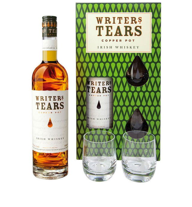 Writers Tears Copper Pot Irish Whiskey 700ml + Glasses Pack