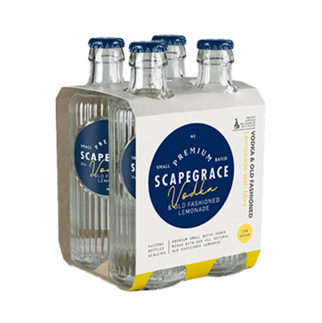 Scapegrace Vodka & Old Fashioned Lemonade RTD 250ml 4pack