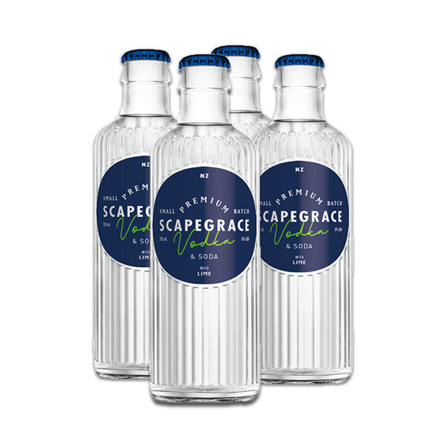 Scapegrace Vodka Soda & Lime RTD 250ml 4pack