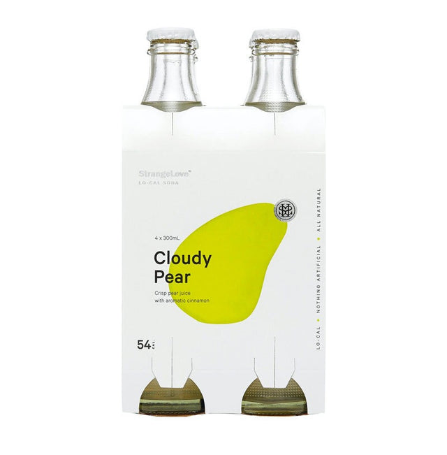 StrangeLove Cloudy Pear & Cinnamon Soda 300ml 4pk