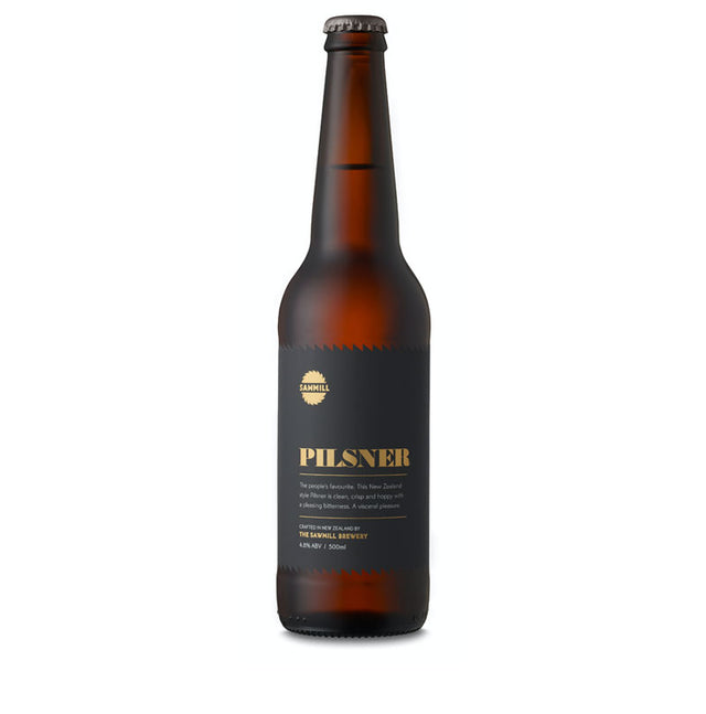 Sawmill Pilsner : Case of 6 x 500ml Bottles