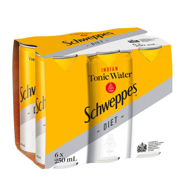 Schweppes Indian Tonic Water Diet 250ml 6pk