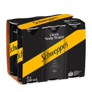 Schweppes Soda Water 250ml 6pk