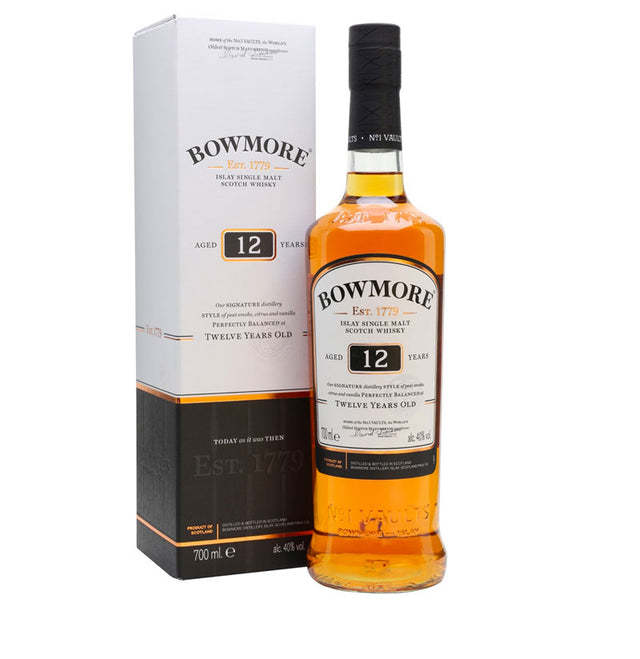Bowmore 12YO Islay Single Malt Scotch Whisky 700ml
