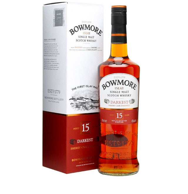 Bowmore Darkest 15YO Islay Single Malt Scotch Whisky 700ml