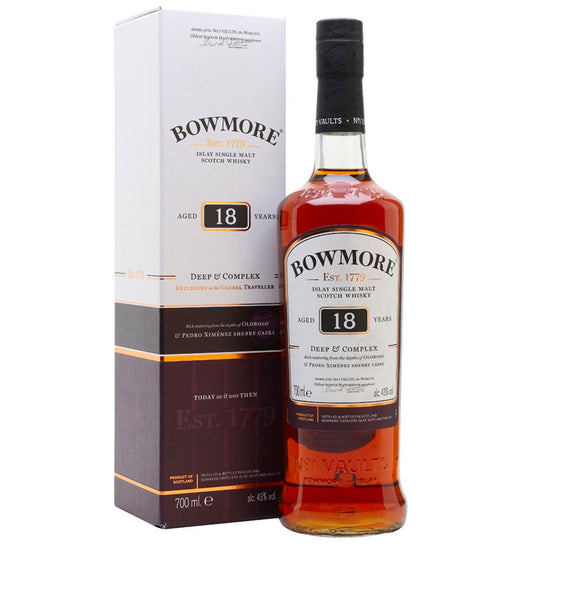 Bowmore 18YO Islay Single Malt Scotch Whisky