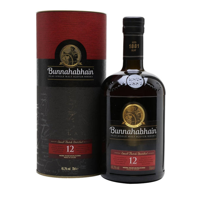 Bunnahabhain 12YO Islay Single Malt Scotch Whisky 700ml