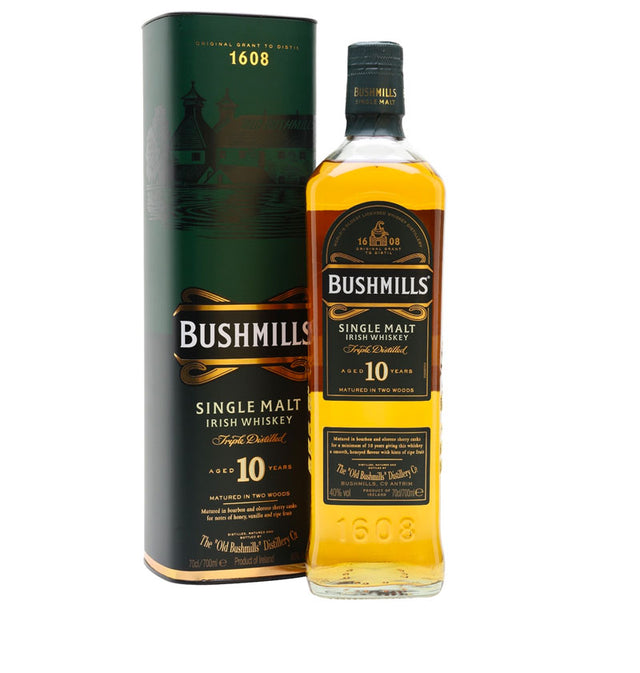 Bushmills 10 YO Single Malt Irish Whiskey 700ml