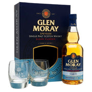 Glen Moray 12YO Single Malt Scotch Whisky 700ml + Glasses Pack