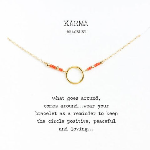Image of Beaded Karma Bracelet