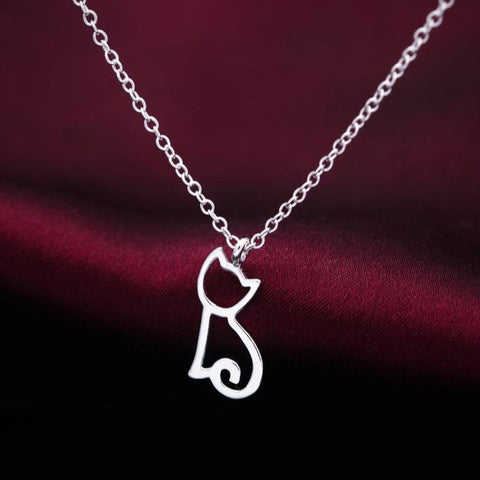 Image of Sterling Silver Kitten Pendant