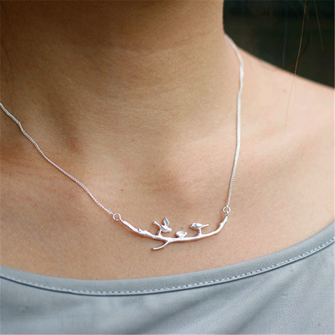 """Perch"" Sterling Silver Necklace"
