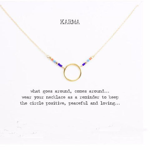 GOOD KARMA Multi-Color Beaded Necklace