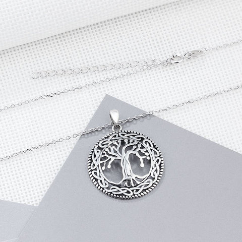 Image of Sterling Silver Tree of Life Necklace