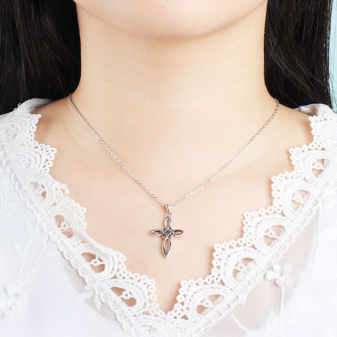 Image of Celtic Cross Sterling Silver Necklace