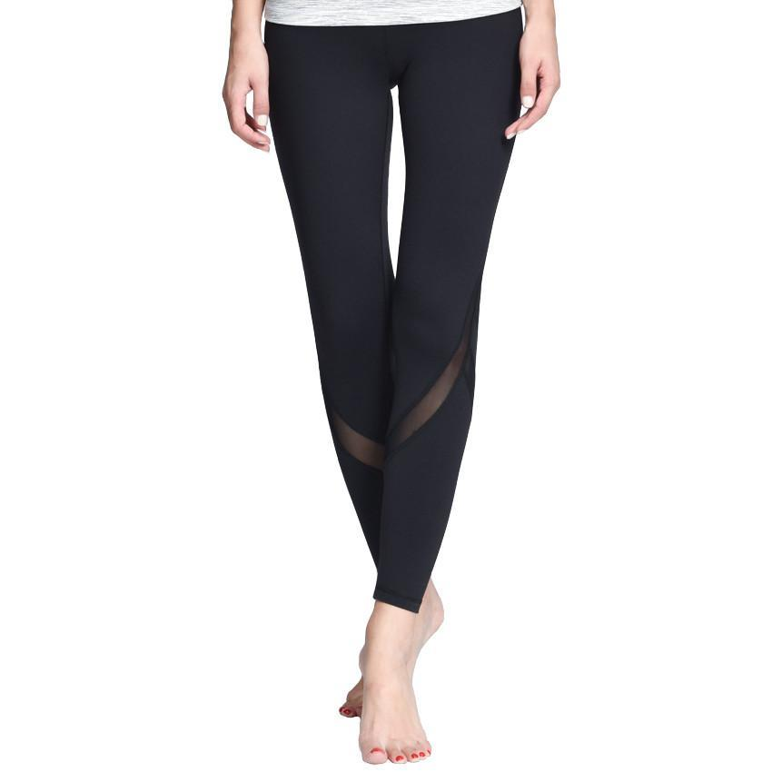 Yoga Pants with Mesh Detail