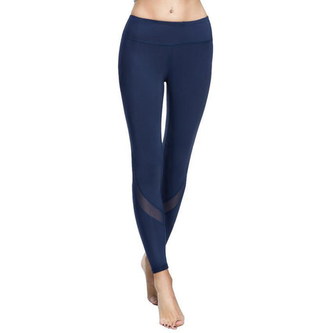 Image of Yoga Pants with Mesh Detail
