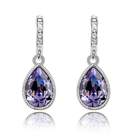 Image of Teardrop Austrian Crystal Earrings