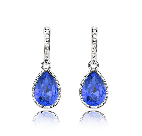 Teardrop Austrian Crystal Earrings