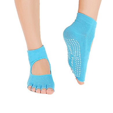 Peep-Toe Yoga Socks - Apple & Thorne