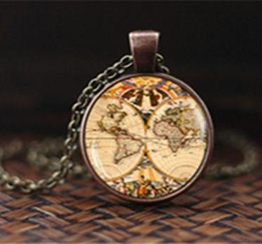 Image of Vintage Map Pendant