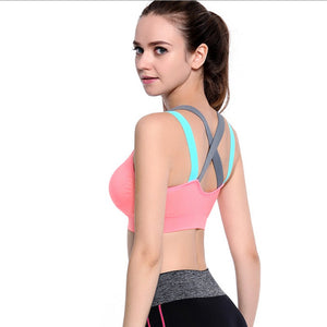 Tri-Color Strappy Sports Bra - Apple & Thorne