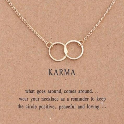 Image of Gold Karma Double Circle Pendant