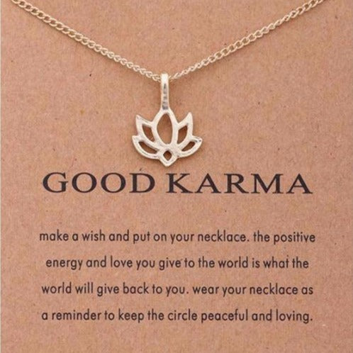 GOOD KARMA Gold Lotus Necklace