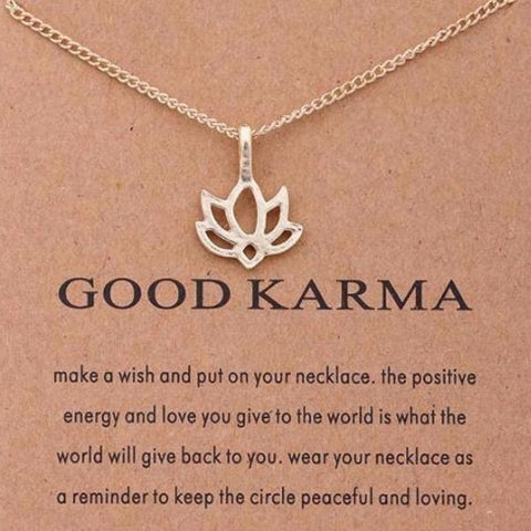 KARMA Gold Lotus Necklace