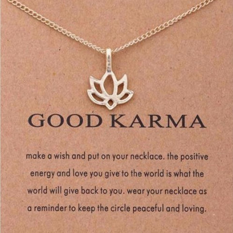 Image of GOOD KARMA Gold Lotus Necklace