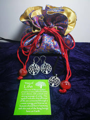Beautiful Jewellery Pouches and Tree of Life Jewellery